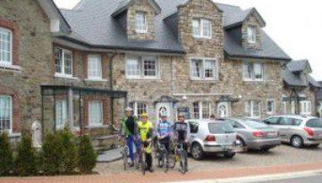 Wanderer und Fahrradfahrer-Angebot